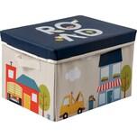 ACHOKA® Spielteppich und Aufbewahrungsbox Playbox - Motiv Stadt