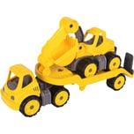 BIG Power Worker Mini Transporter und Bagger 41 cm