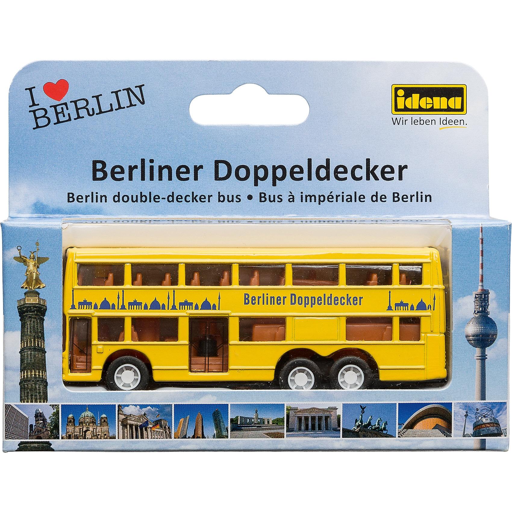 Idena Berlin-Bus klein mit Freilauf ca.10cm