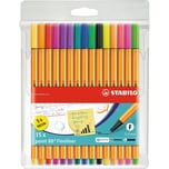 STABILO Fineliner point 88 NEON 10 5 Farben