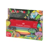 Faber-Castell Jumbo Grip Mal- und Zeichenset für Unterwegs Metallic/Neon 11-tlg. Metalletui