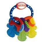 Nuby Beißring Schlüssel mit Eisgel blau