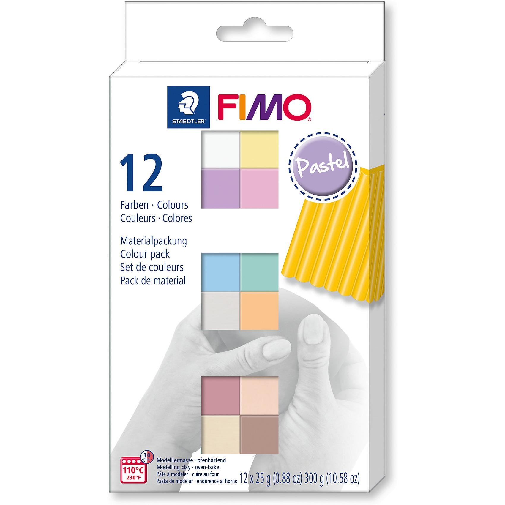 Staedtler Fimo soft Materialpackung Pastel Colours 12 x 25 g