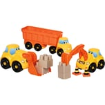 Écoiffier Abrick-Set Baustellen-Fahrzeuge