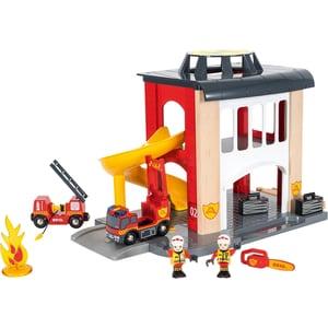 Brio Große Feuerwehrstation mit Einsatzfahrzeug