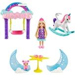 Mattel Barbie Dreamtopia Chelsea Feen-Baumhaus Spielset mit Puppe