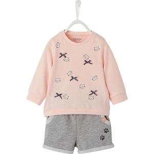vertbaudet Baby Set Sweatshirt Shorts