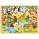 Goki Holzpuzzle 48 Teile Afrika