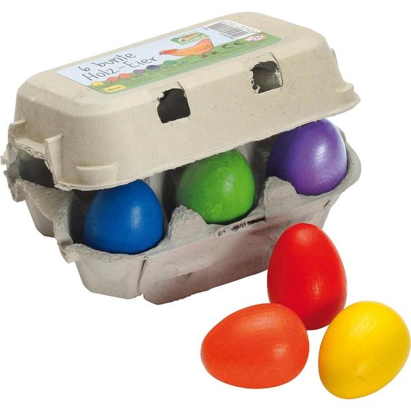 Erzi bunte Eier im Karton Spiellebensmittel