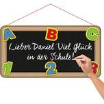 Folat Türschild Schulanfang/Einschulung Tafel zum Beschriften