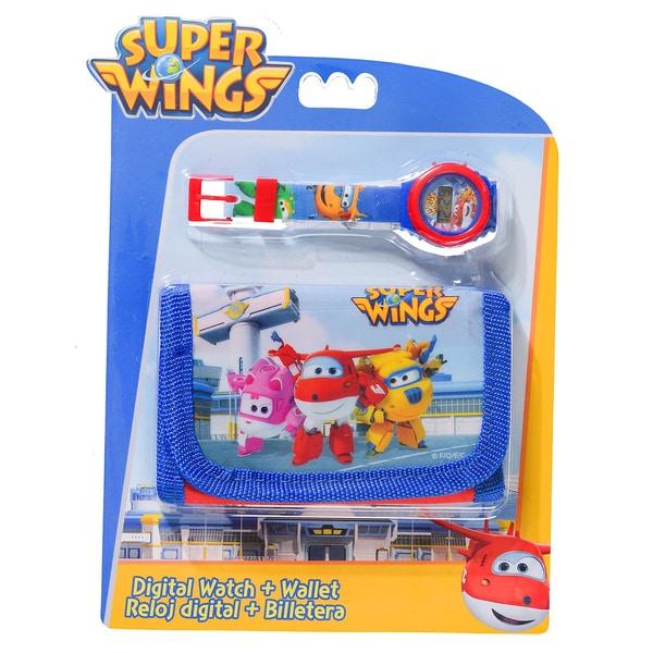 Geschenkset Super Wings Börse Digitaluhr