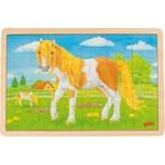 Goki Holzpuzzle 24 Teile Pferd