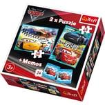 Trefl 2 Puzzles Memo Cars 3