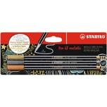 Stabilo Pen 68 Metallic 3Er Blister Gold Silber Kupfer