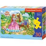 Castorland Puzzle 30 Teile Prinzessin und ihr Pferd