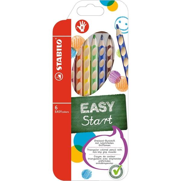 STABILO Buntstift EASYcolors R 6 Farben