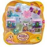 JOY TOY Rapunzel Schmuckset mit 2 Glitzerhaarspangen, 8 Haarbänder, Armband, 2 Ringen, eine Haarmasc