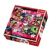 Trefl 4in1 Puzzle - 54 80 2x104 Teile - Miraculous