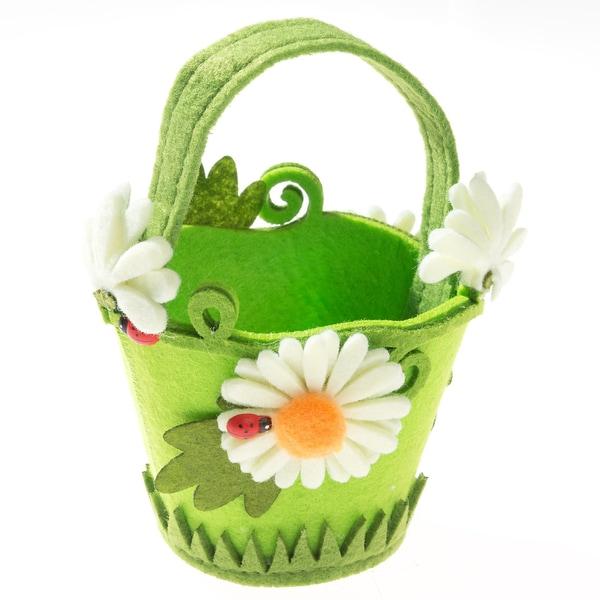 Prohobb Kreativset Filz-Henkelkörbchen Blume Motiv 2