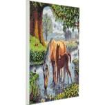 CRAFT Buddy Crystal Art Kit auf Holzrahmen-Leinwand - Ponys 30 x 30 cm