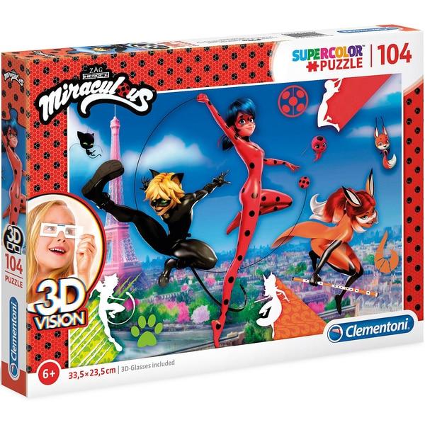 Clementoni 3D Vision Puzzle 104 Teile Miraculous