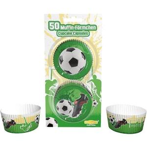 Dekoback Muffinförmchen Fußball 50 Stück