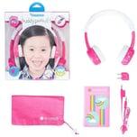 Buddyphones Kopfhörer pink inFlight Version