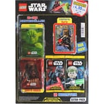 Top Media LEGO STAR WARS Trading Cards EXTRA Pack mit 2 Booster Gold Karte 60 Schutzhüllen