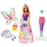 Mattel Barbie Dreamtopia Regenbogen-Königreich 3-in-1 Fantasie Puppe Geschenkset