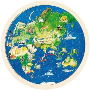 Goki Einlegepuzzle Weltkugel