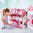 WORLDS APART 6-Boxen Regal Minnie Mouse rosaweiß