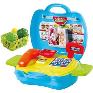 Playgo Supermarkt mit Kasse zum Mitnehmen 17 Teile
