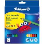 Pelikan Pelikan Buntstifte dick dreieckig 12 Farben inkl. Anspitzer