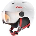 uvex Skihelm Junior Visor Pro WhiteRed Mat 54-56