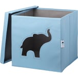 STORE IT! Aufbewahrungsbox Elefant mit Sichtfenster blau