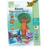 Folia 655 Riesen Tonpapierblock, 130g/m², 24x34cm, 25 Farben, mehrfarbig (50 Bogen)