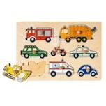 Goki Steckpuzzle Verkehrsmittel