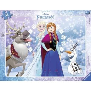 Ravensburger Rahmen-Puzzle 40 Teile 325x245 cm Die Eiskönigin Anna und Elsa