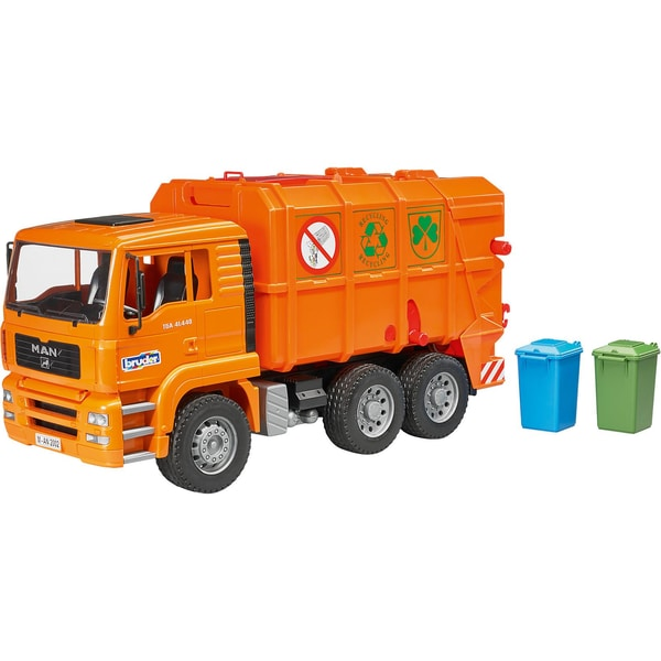 Bruder 02760 Müll LKW 47cm MAN TGA orange