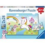 Ravensburger 2er Set Puzzle je 24 Teile 26x18 cm Märchenhaftes Einhorn