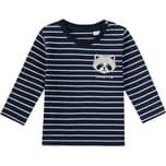 Sanetta Kidswear Baby Langarmshirt für Jungen Streifenpanda