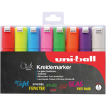 uni-ball UNI Chalk Kreidemarker 8 mm 8 Farben