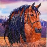 CRAFT Buddy Crystal Art Pferd 18 x 18 cm Kristallkunst-Karte