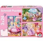 Schmidt Spiele Kinderpuzzleset 3 x 24 Teile Märchenhafte Prinzessin