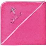 Wörner Kapuzenbadetuch XL Schmetterling Pink 100 X 100 cm
