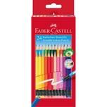 Faber-Castell Sechskant-Buntstifte radierbar 24 Farben