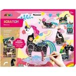 Avenir Scratch Jointed Puppet Unicorns Kratzbilder