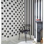 Decofun Tapete Streifen schwarzweiß 10 m x 53 cm