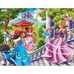 Larsen 3er-Set Rahmen-Puzzle 11 Teile 28x18 cm Prinzessin