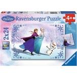 Ravensburger 2er Set Puzzle je 24 Teile 26x18 cm Disney Die Eiskönigin Schwestern für immer